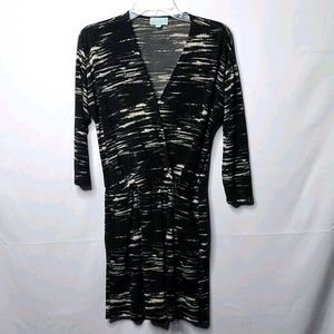 Veronica M. long sleeve vneck dress w/ pockets S